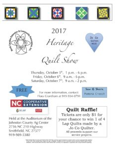 Cover photo for 2017 Heritage Quilt Show