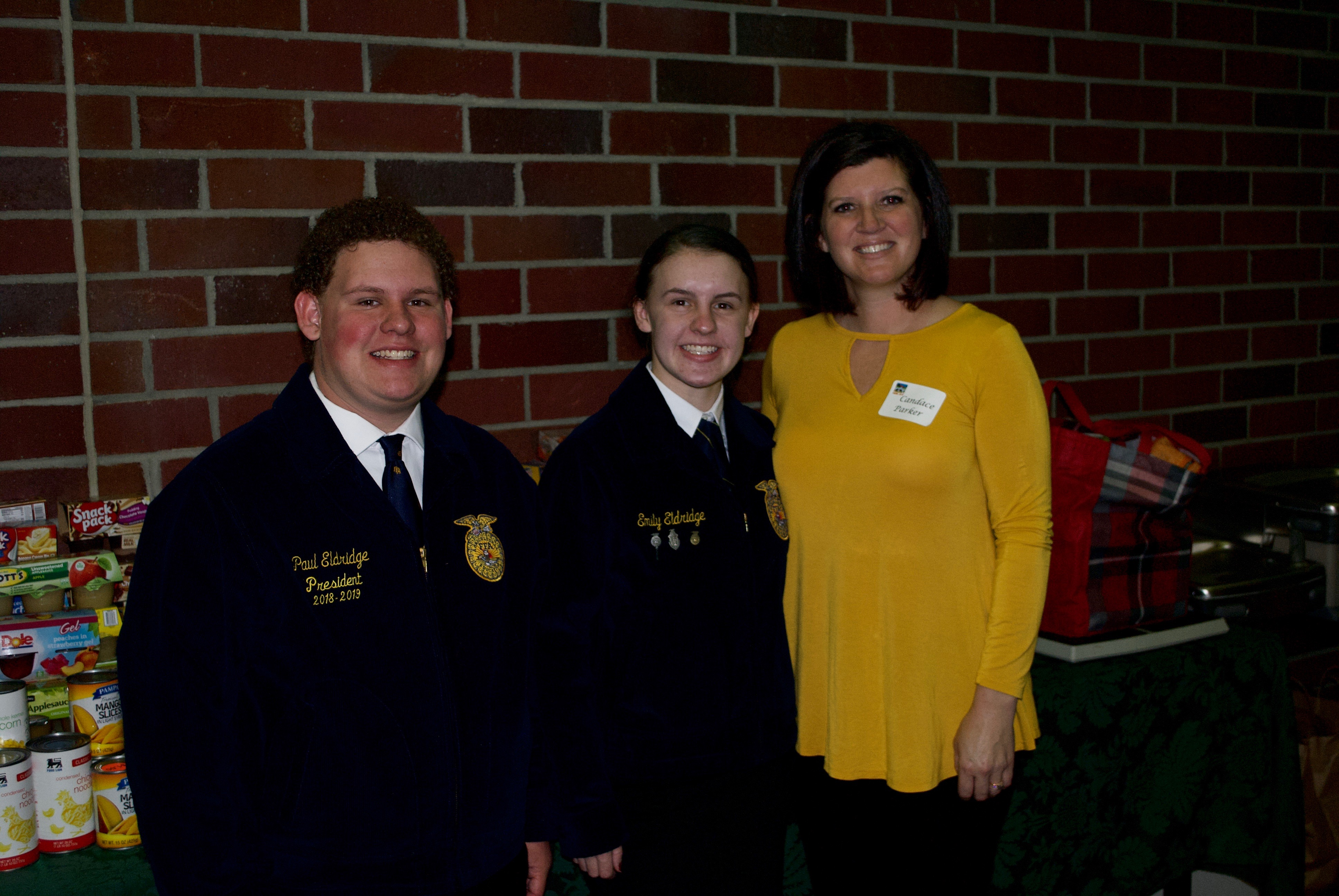 photo of South Johnston FFA Officers and their Advisor