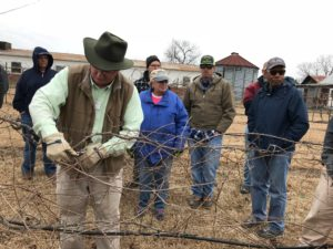Johnston County Master Gardener Volunteers and others learning the proper way to prune a grape vine