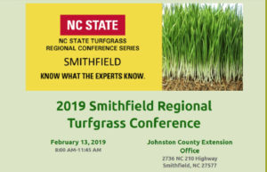 2019 Smith Regional Turfgrass Conference Poster