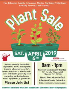 Cover photo for Annual Plant Sale by Master Gardener Volunteers of Johnston County