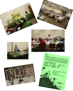 various images from the symposium and a picture of the event flyer