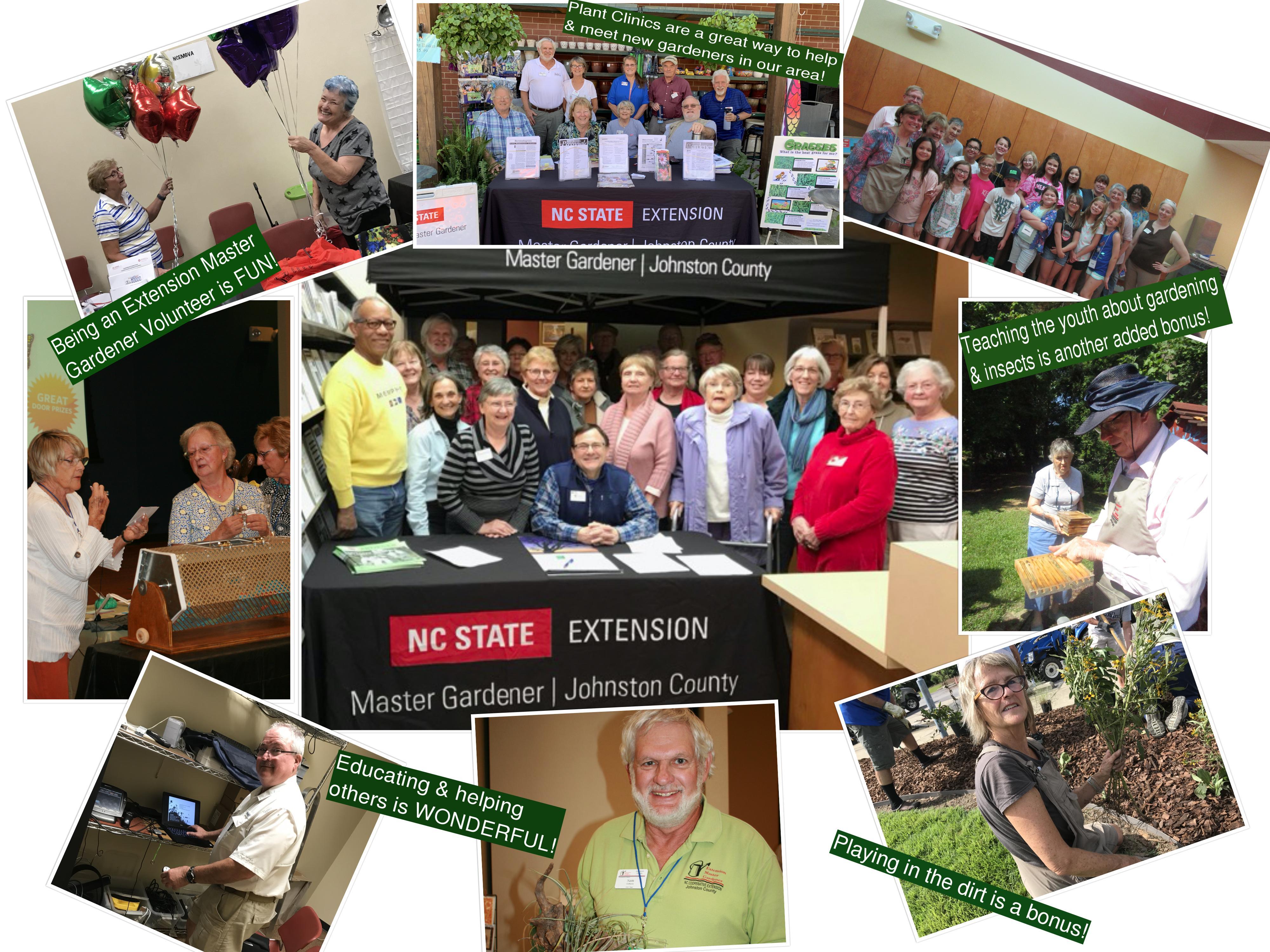 Collage of Master Gardener Volunteers from Johnston County