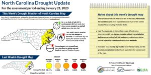 Map of NC drought conditions