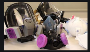picture of pesticide masks and components