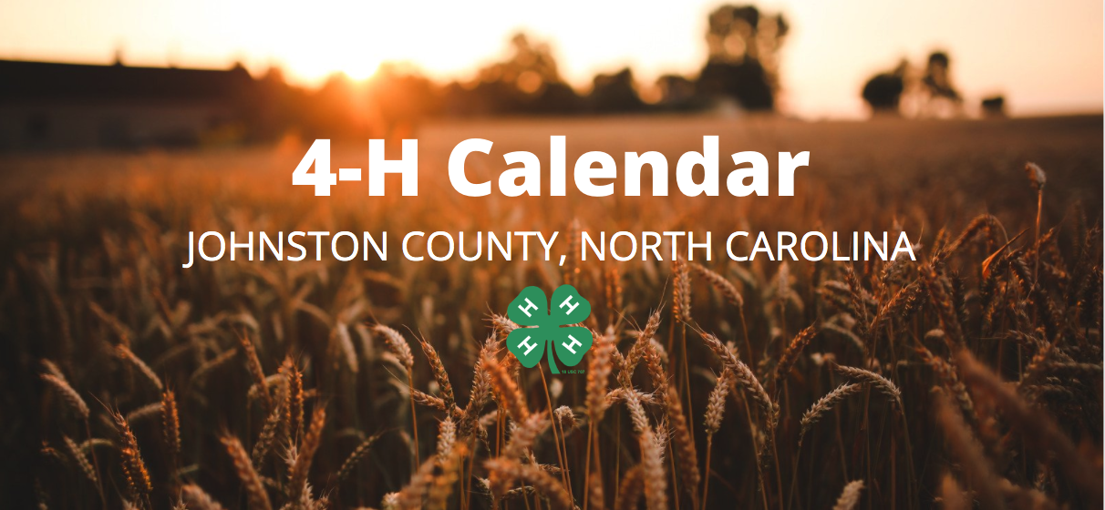 Field with 4-H Calendar Johnston County North Carolina with green 4-H clover