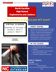 Cover photo for ASPIRE Virtual ACT Prep