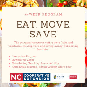 Cover photo for New Program Alert! Eat. Move. Save.