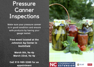 Cover photo for Pressure Canner Inspection & Testing in March