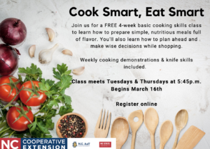 Cover photo for Cook Smart, Eat Smart 4-Week Adult Program
