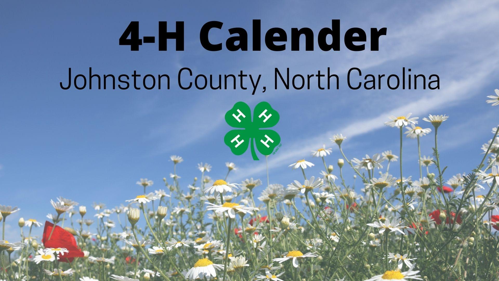 4-H logo on field of flowers