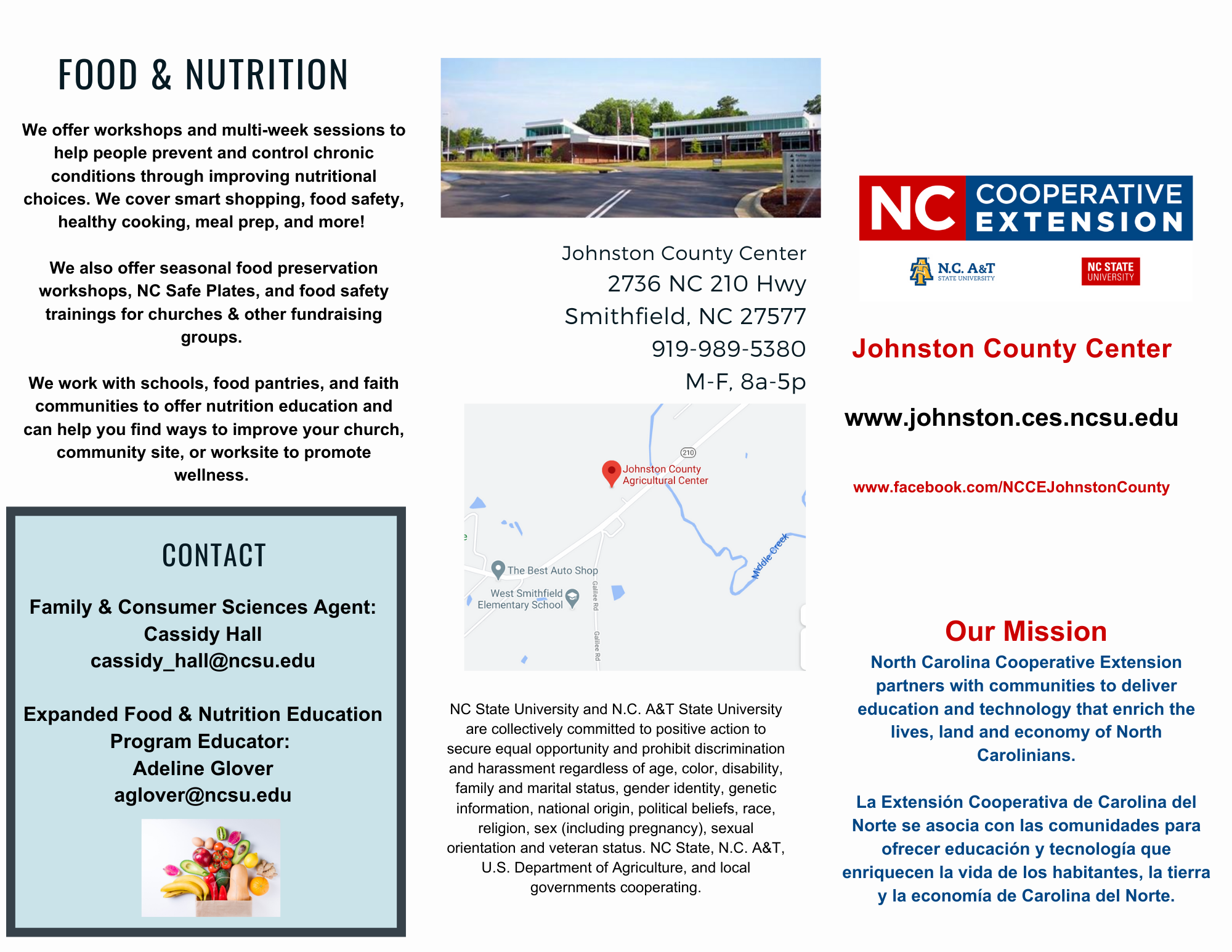 Food and Nutrition flyer image