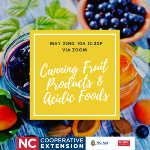 Cover photo for Canning Fruit Products & Acidic Foods, May 22