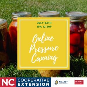Cover photo for July 24, Pressure Canning Workshop